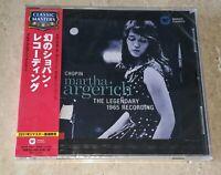 NEW SEALED CHOPIN MARTHA ARGERICH LEGENDARY 1965 RECORDING JAPAN IMPORT OBI CD