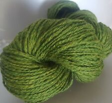 500g OF GREEN TWEED 100% PURE KNITTING WOOL (5 SKEINS)