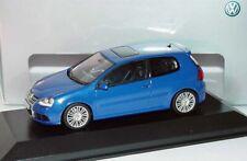 RARE VW GOLF 5 V R32 3.2 V6 4-MOTION DEEP BLUE 1:43 MINICHAMPS (DEALER MODEL)
