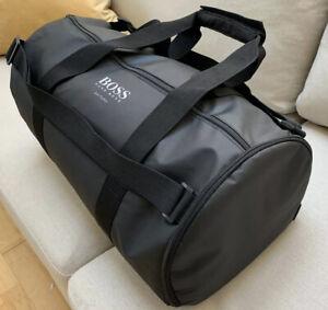 Brand New!! Hugo Boss Soccer 20 Black Holdall Overnight/gym/ Duffle Bags