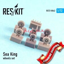 Resin Wheels for Sea King (all versions), Wheels Set 1/72 Reskit 72-0042
