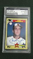 Cal Ripken Jr. 1987 Topps #609 All-Star Signed Autographed Authentic PSA/DNA