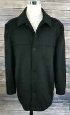Mantoni Italy Men's 52 Black Wool Cashmere Blend Overcoat Pea Coat