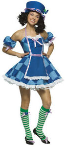Blueberry Muffin Costume Sweet & Sexy 4Pc Adult Dress W/ Apron & Accs. Small