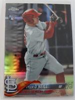 2018 Topps Chrome #35 Tyler O'Neill Cardinals Refractor Rookie RC Baseball Card