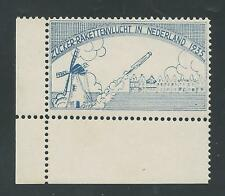 1935 HOLLAND rocket mail stamp - Zucker signed - EZ 5A1