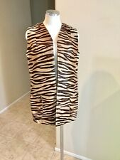 Vintage Zebra Fur Skin Vest Jacket Coat Neiman Marcus Custom Made Burning Man