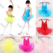 Girls Party Costume Ballet Tutu Dance Dress 3-12Y Kids Leotard Toddler Dancewear