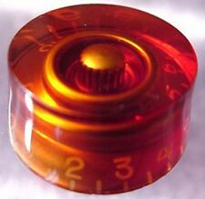 AMBER SPEED KNOB FOR ELECTRIC GUITAR SMOOTH - PUSH ON