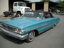 FORD GALAXIE 500 1964 CONVERTIBLE TOP+GLASS WINDOW - WHITE  HAARTZ VINYL