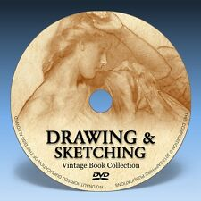 DRAWING & SKETCHING BOOKS - 76 Vintage Books on DVD! * Pen & Ink, Pencil, Art