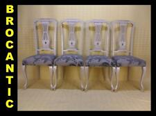 4 CHAISES style CHIPPENDALE / LOUIS XV ★BROCANTIC★ANTIQUITÉS/BROCANTE/OCCASION