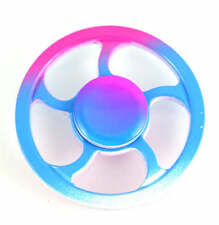 multicolor Round Fire Wheel EDC Fidget Metal Hand Spinners Relief Stress Finger