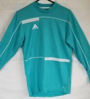 Adidas Climalite Goalie Soccer Shirt Blue Aqua w/ pads on arms Size S