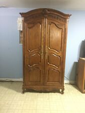 18th/19th Century Antique Armoire & Matching King Headboard, French Provincial