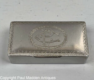 Antique American Coin Silver Snuff Box