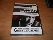 Good Night, And Good Luck (DVD, 2006 WS) Robert Downey George Clooney Drama NEW