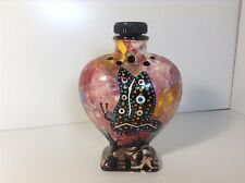 MANA Apache USA heart shaped vase butterfly Native American Made in Arizona