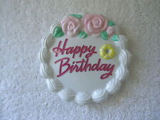 "Vintage Ceramic "" Happy Birthday "" Wall Plaque "" BEAUTIFUL COLLECTIBLE RARE ITEM"