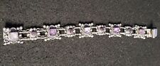 Sterling Amethyst Bracelet Beautiful Old Esperanza Mexico
