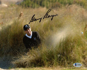 GARY PLAYER SIGNED AUTOGRAPHED 8x10 PHOTO CELEBRATED GOLF LEGEND BECKETT BAS