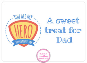 4 x  Personalised Fathers Day Large Stickers Birthday Party Bag Sweet Cone Gift