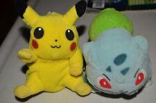 Pokemon Pikachu Bulbasaur Treat Keepers Hasbro Plush Toy Dolls Nintendo VTG 1999