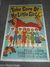 TAKE CARE OF MY LITTLE GIRL - ORIGINAL FOLDED POSTER - JEANNE CRAIN - 1951