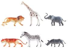 """6 Spielfiguren """"Zootiere"""" ca. 15cm Spielset Zoo Tierpark Elefant Giraffe Löwe .."""