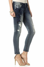 Miss Me Signature Sapphire Skinny Ankle Jeans Sz 29 JP7668AK Embroidered NWT
