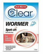BM Clear Spot On Wormer For Cats (2 Tubes) - 20972