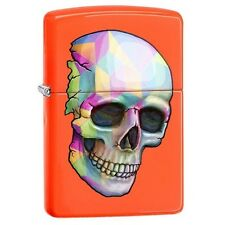 Zippo 29402 Skull Neon Orange Finish Full Size Lighter