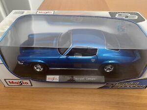 Maisto 1:18 1971 Chevrolet Camaro Blue NEW
