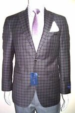 38R Jacket GORGEOUS Check Plaid Blazer Made in Canada 120's Fabric 100%VW