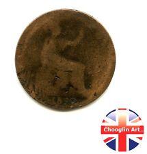 A 1890 British Bronze VICTORIA HALFPENNY Coin            (Re.1890_067/68)