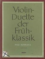 Violin-Duette der Frühklassik Band 2 - herausgegeben von Paul BORMANN