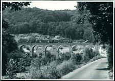 Photo SBB CFF FFS RBDe 4/4 14?? on a bridge where? Switzerland 1975 original