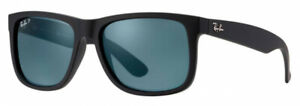 New Ray-Ban Classic Justin RB4165 Polarized Black Dark Blue Lenses Sunglasses