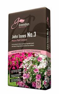 Evergreen Irish Peat John Innes Number 3 No. Compost 25L Greendays Horticulture