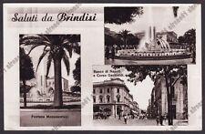 BRINDISI CITTÀ 47 SALUTI da.. VEDUTINE FONTANA - BANCA BANCO DI NAPOLI Cartolina