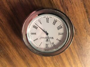 """Replacement Dial ONLY Waterford Crystal Clock Insert  1-1/2"""" New Batt by seiko"""