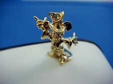"14K SOLID YELLOW GOLD ""MAGIC MICKEY MOUSE"" DISNEY ORIGIN PENDANT CHARM"