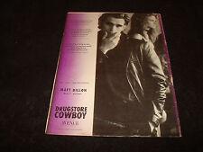 DRUGSTORE COWBOY 1989 Oscar ad Matt Dillon Best Actor, Kelly Lynch, Gus Van Sant