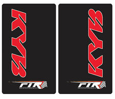 Black Upper Fork Graphics Stickers Decals KYB Red Suspension Yamaha WRF WR F