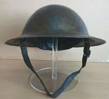 More details for an original ww-i british army mk-i brodie steel helmet with liner & chinstrap