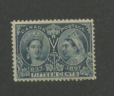 Queen Victoria 1897 Canada 15c Blue Stamp #58 Scott Value $675