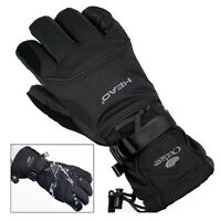 Black Men Waterproof Winter Ski Snowboard Gloves for Skiing Snowboad Shoveling