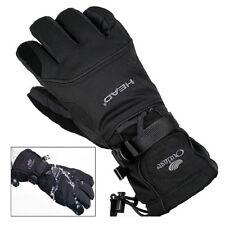 Black Men Waterproof Winter Ski Snowboard Gloves for Skiing Snowboad Shoveling