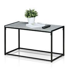 Inndustrial Style Stone Effect Metal Coffee Table
