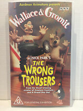 Wallace & Gromit in The Wrong Trousers - VHS Video Tape Cassette
